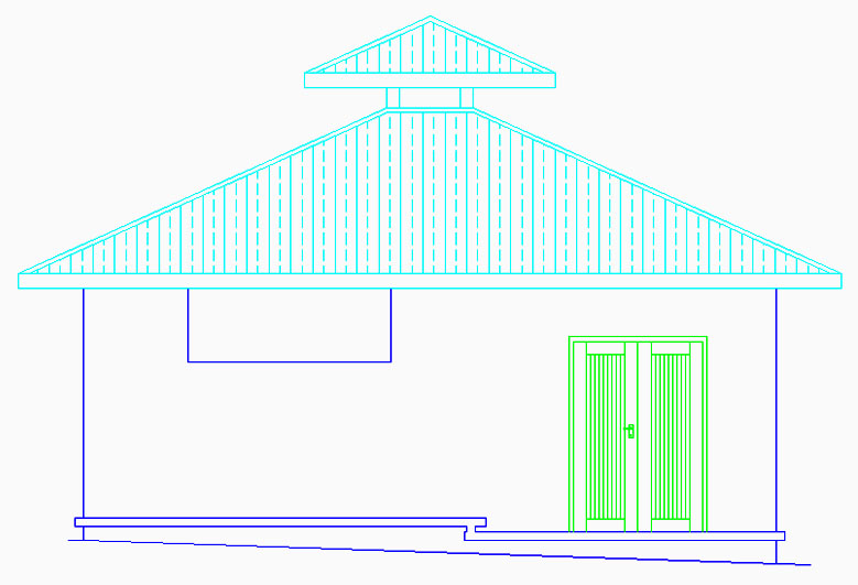 Side Elevation of Proposed Kitchen & Store