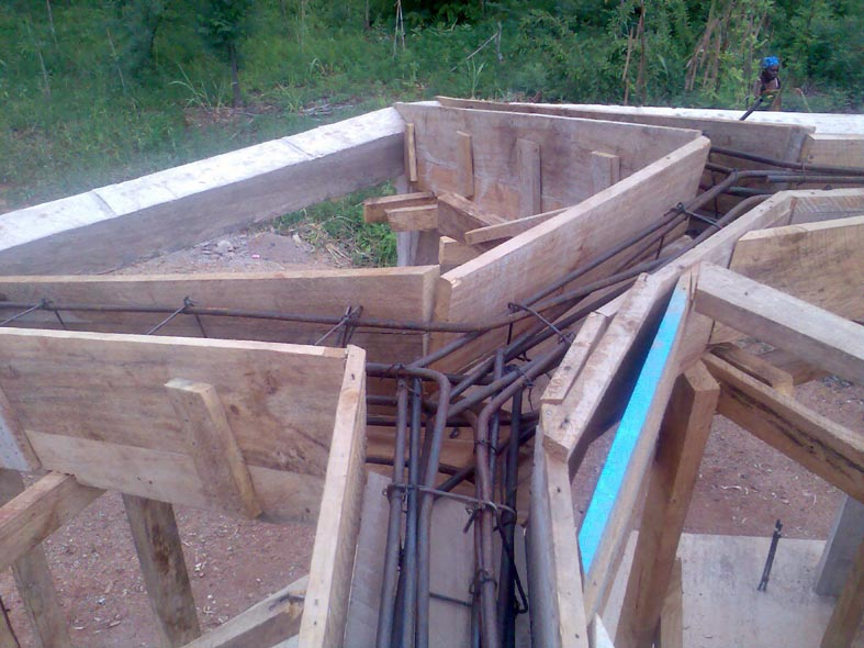 Rebars in Upper Roof beams