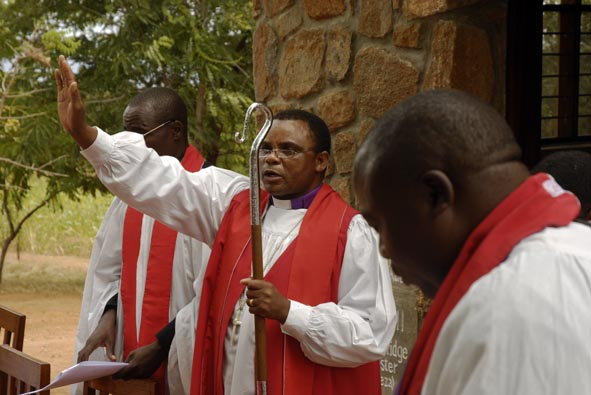 +Jacob Chimeledya gives his Final Blessing as the Work of St. Luke's Chapel begins a New Era