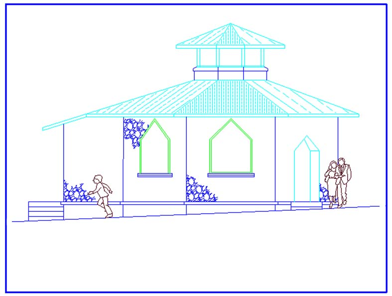 An Elevation of the Proposed St. Luke's Chapel